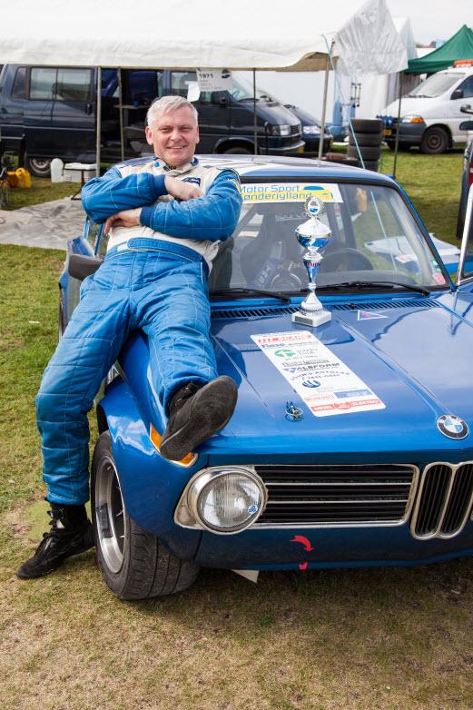 Anders T. Jensen er klar med BMW 2002 til Historisk Weekend 2013